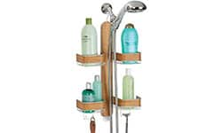 4 Shelf Format - Satin/Teak Wood Veneer Shower Caddy