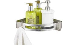 BESy Corner Shelf Shower Caddy (Wall Mount with Screws)