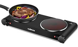 Cusimax Portable Electric Stove, 1800W Infrared Cooktop