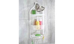 The Circlz Plastic Hanging Shower Caddy Extra Space for Shampoo