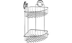suction cup corner shower caddy